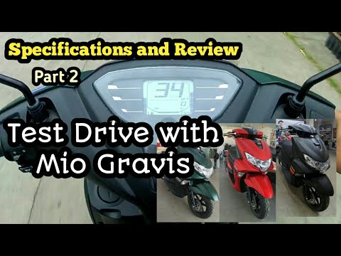 Test Ride Mio Gravis 2020 - Specs,Price And Review Part 2