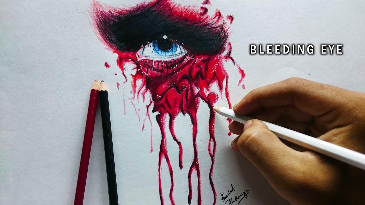 Bleeding Eye Supernatural Drawing Sketch It  How To Draw Blood