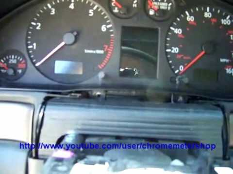 Instrument cluster removal - Audi A4 S4 A6