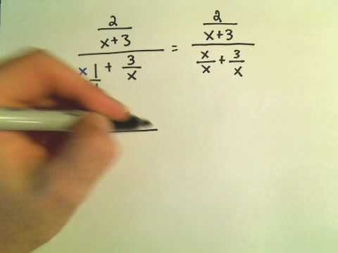 Simplifying Complex Fractions - Ex 1