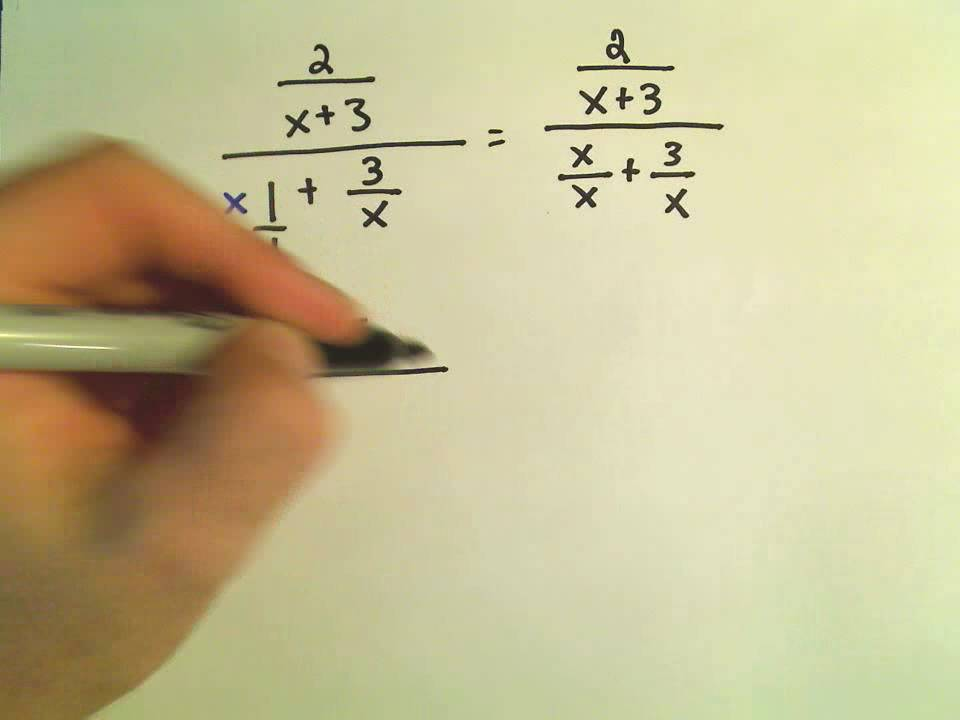 Simplifying Complex Fractions Ex 1 Youtube