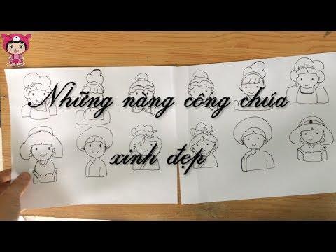 [Princess doodles] Hướng dẫn vẽ công chúa đơn giản