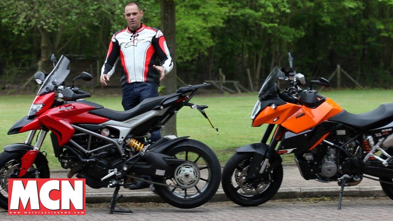 ducati hyperstrada vs ktm smt | road test | motorcyclenews