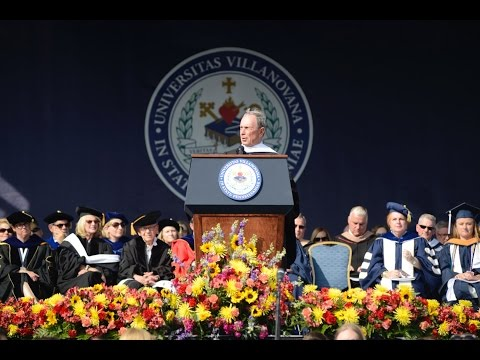 Mike Bloomberg Delivers Villanova University Commencement Ad