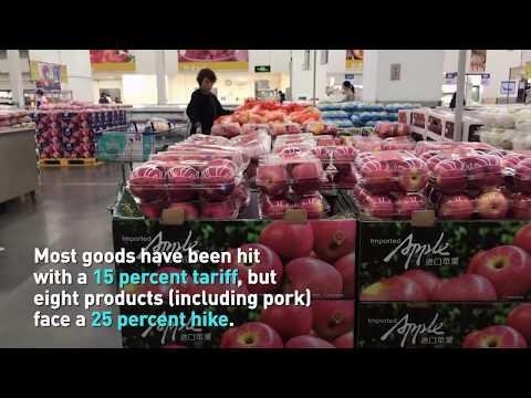 China retaliates by imposing tariffs on 128 US products
