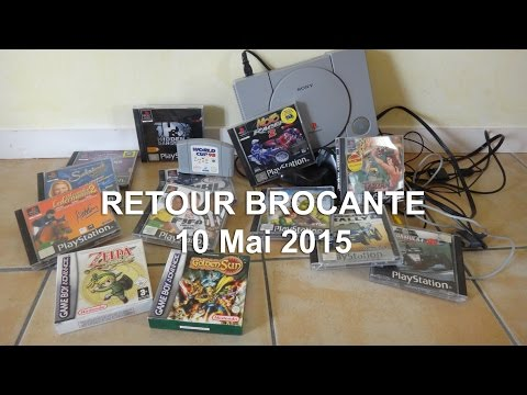 retro gaming PS1 - retour brocante (10-05-2015)