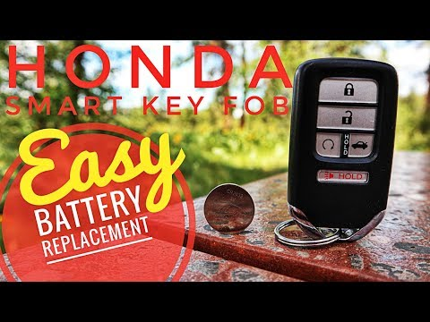 Honda Smart Key Fob Battery Replacement- Civic Accord CRV Odyssey Fit