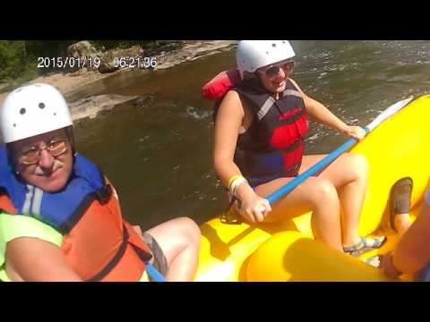 White water rafting. Blue Heron. Marshall NC. French Broad River. Video 2 of 2