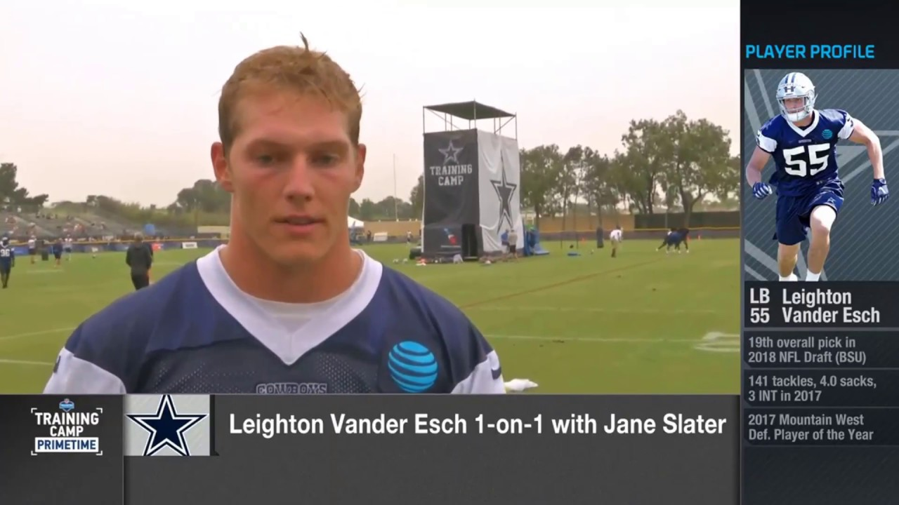 separation shoes 93793 8330d Leighton Vander Esch on learning from Sean Lee...