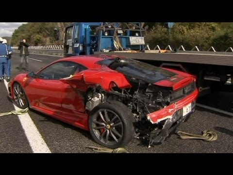 Japan S Most Expensive Car Crash Ever No Comment Youtube