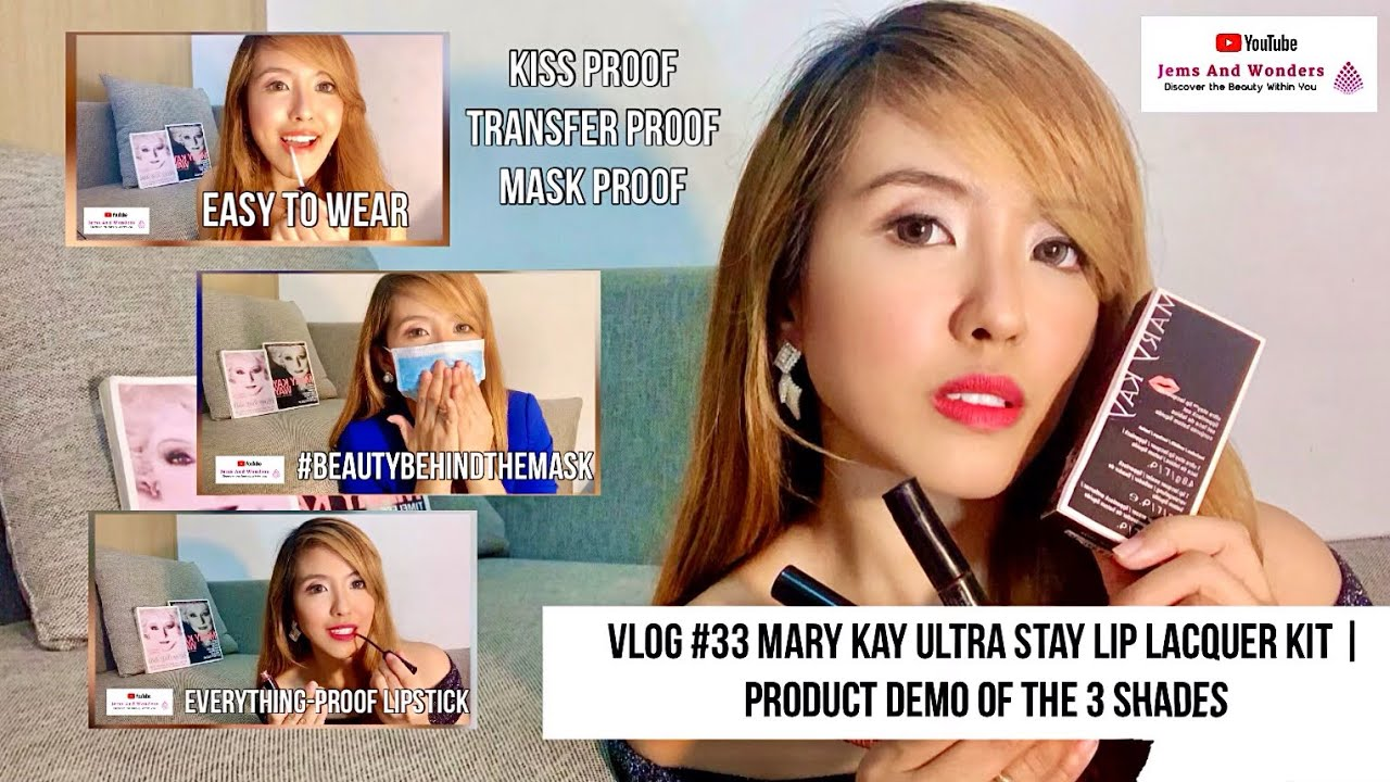 Vlog# 33 Mary Kay Ultra Stay Lip Lacquer Kit Product Demo of the 3 Shades | #BeautyBehindTheMask