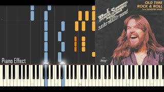 Video Bob Seger - Old Time Rock & Roll (Piano Tutorial Synthesia) download MP3, 3GP, MP4, WEBM, AVI, FLV Mei 2018
