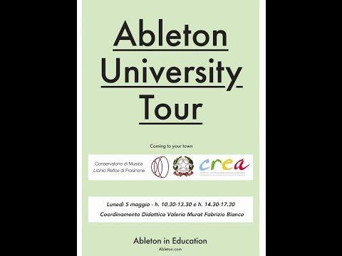 Ableton University @ C.R.E.A. Conservatorio di Frosinone