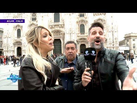 """¡Desopilante sketch de """"El insoportable"""" con Wanda Nara en Milán!"""
