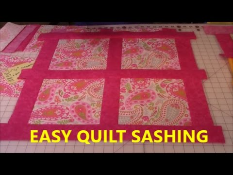 Quilt Sashing Lesson #1 - YouTube : sashing on quilts - Adamdwight.com