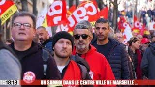Marseille : entre courses de Noël et manifestations, ambiance contrastée dans le centre-ville