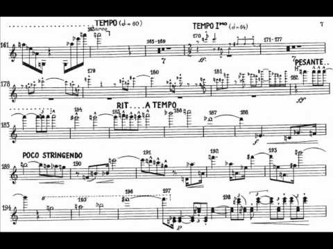 Schoenberg, Arnold 1th mvt (begin) violin concerto