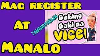 PAANO SUMALI MAG REGISTER MANALO SA PRIZE GANDA GABING GABI NA VICE VICE GANDA NETWORK.