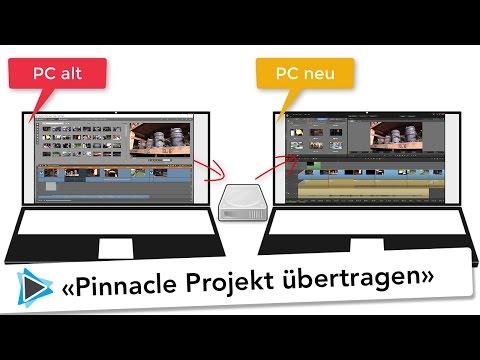 Pinnacle Studio Projekt von PC zu PC übertragen und auf einer neuen Version öffnen Video Tutorial
