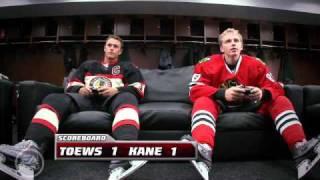 Patrick Kane vs Jonathan Toews NHL 11 (FUNNY)