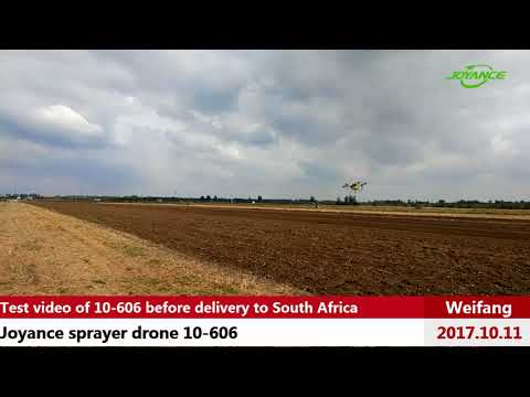 Joyance sprayer drone 10-606 test video before delivery to South Africa
