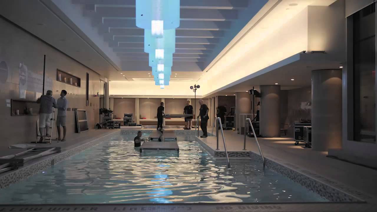 Shangri la hotel toronto pool fashion show timelapse for Pool show toronto