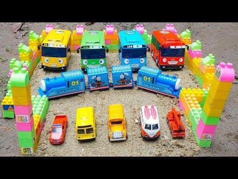 Thomas Train Transform Into the Hulk rescues Tayo The Little Bus | Excavator Bulldozer Dump Truck