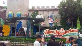Alice in Wonderland Ride at Blackpool Pleasure Beach POV in HD