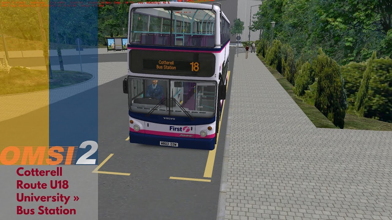 OMSI 2 » Cotterell U18: University → Bus Station » Transbus ALX400 (Volvo  B7TL)