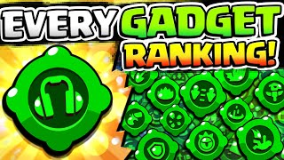 EVERY GADGET RANKING!! BEST & WORST BRAWLER GADGETS IN BRAWL STARS!! ALL #BRAWLGADGETS GAMEPLAY!