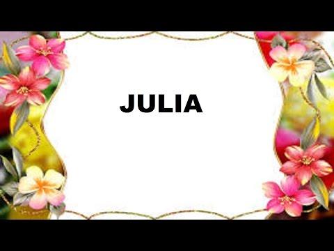 Julia Significado e Origem do Nome