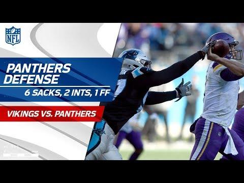 Carolina's D Racks Up 6 Sacks, 2 INTs & 1 Forced Fumble | Vikings vs. Panthers | Wk 14 Player HLs