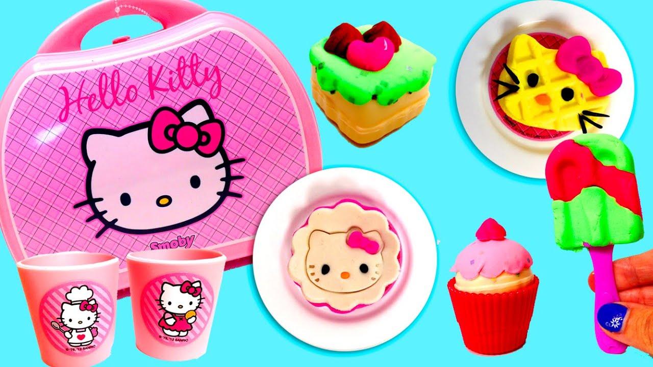 Play Doh Hello Kitty Mini Kitchen Playset Mini Cocina Juguetes ...