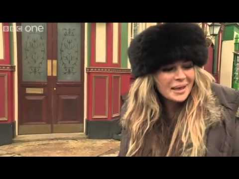 Kierston Wareing On Set With EastEnders  BBC One Christmas 2012