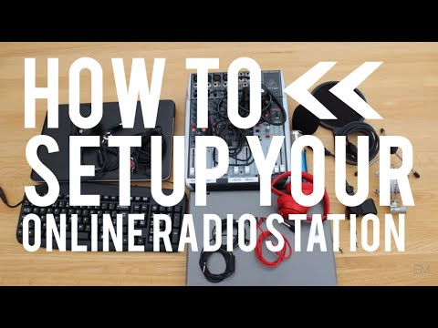 how to start an online radio station