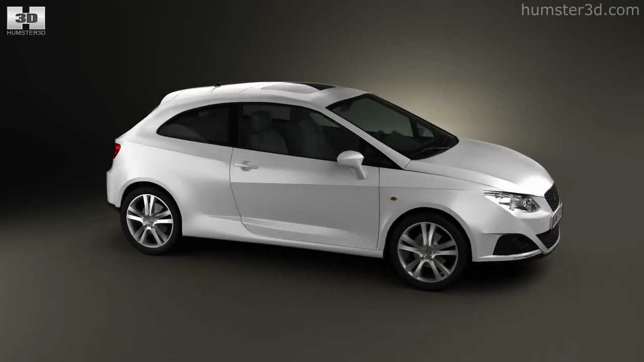 seat ibiza sport coupe 3door 2011 by 3d model store. Black Bedroom Furniture Sets. Home Design Ideas