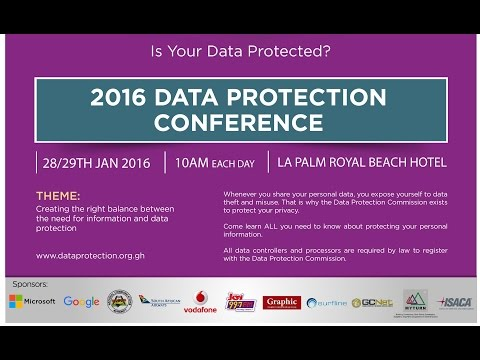 Ghana Data Protection Conference (2016)