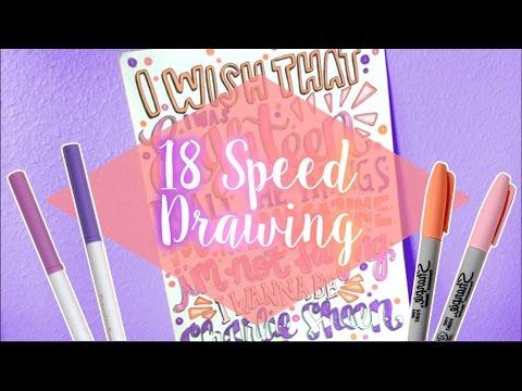 18 Lyric Art - 5sos Speed Drawing