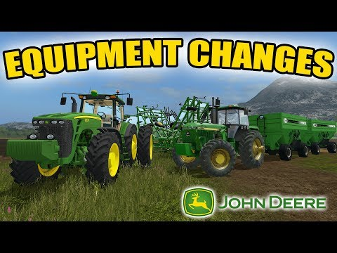 FARMING SIMULATOR 2017 | BIG JOHN DEERE TRACTOR CHANGES + FIELD WORK | EP #7