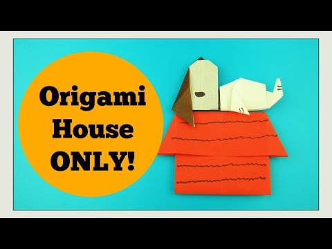 Snoopy Craft - ORIGAMI HOUSE - Peanuts Movie Paper   Crafts for Kids DIY Tutorial - Paper House