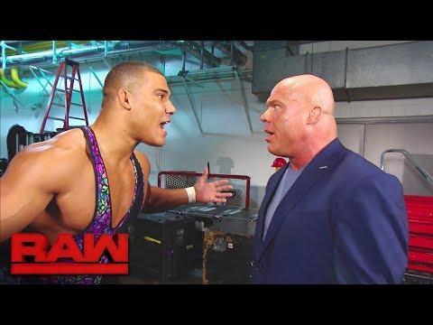 Kurt Angle urges Jason Jordan to calm down: Raw, Sept. 18, 2017
