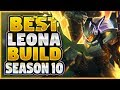 LEONA'S SEASON 10 BUILD FINALLY REVEALED!?! NEW SEASON 10 LEONA BUILD (INSANE GAME!)