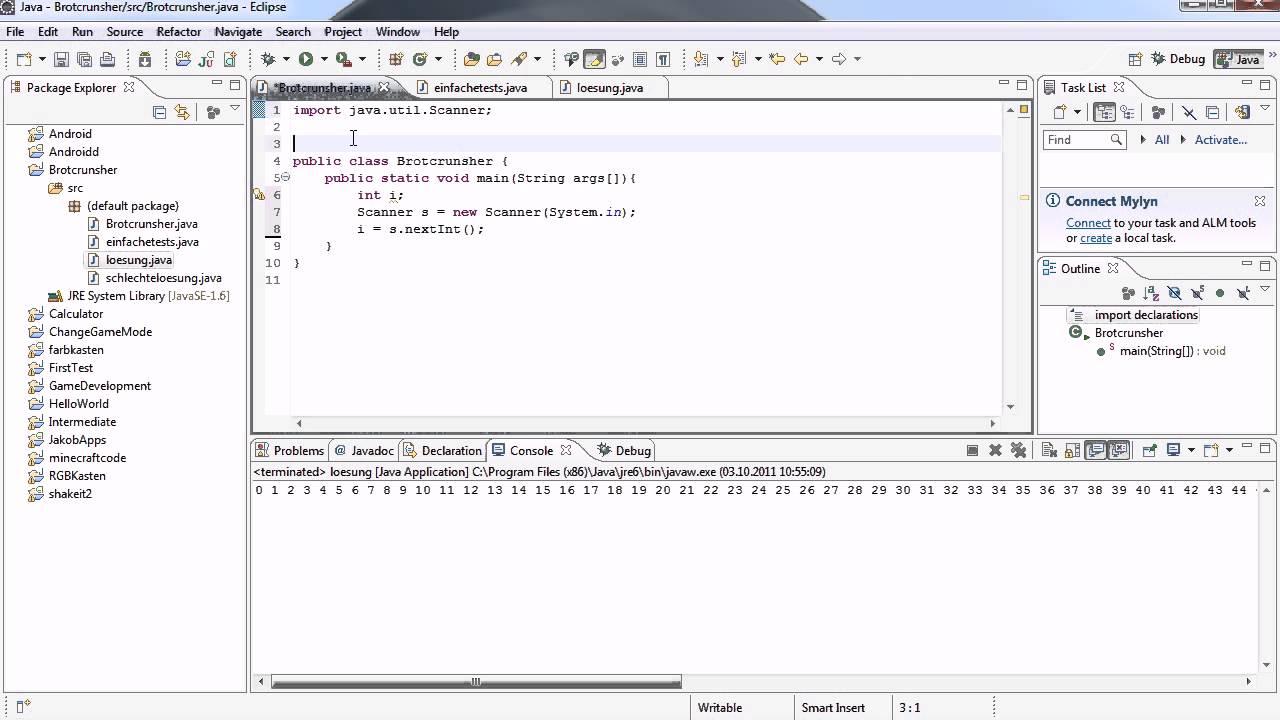 Java Tutorial 30   Scanner, oder auch Was der Benutzer will