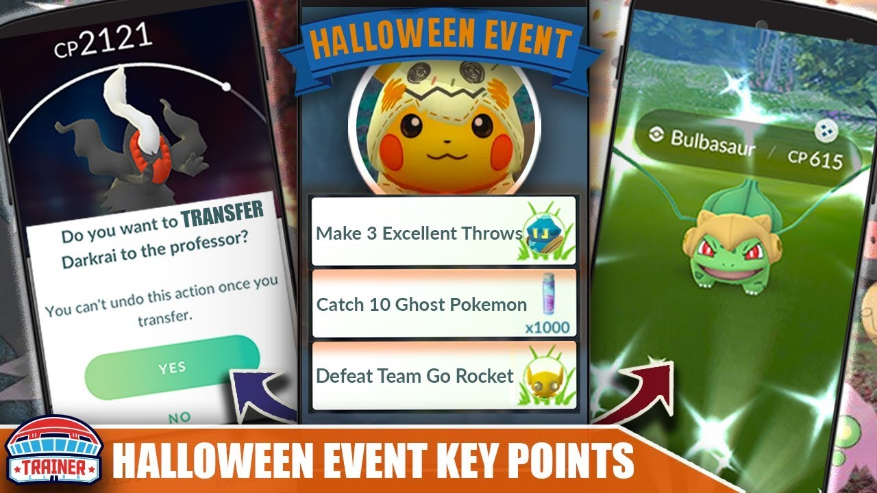Don T Forget Top Ending Halloween Event Tips Shiny Starter Costumes 2x Candy Pokemon Go