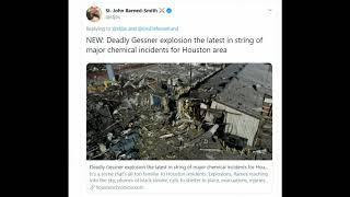 Two Dead, Massive explosion Houston, Texas, Damage Miles From Site