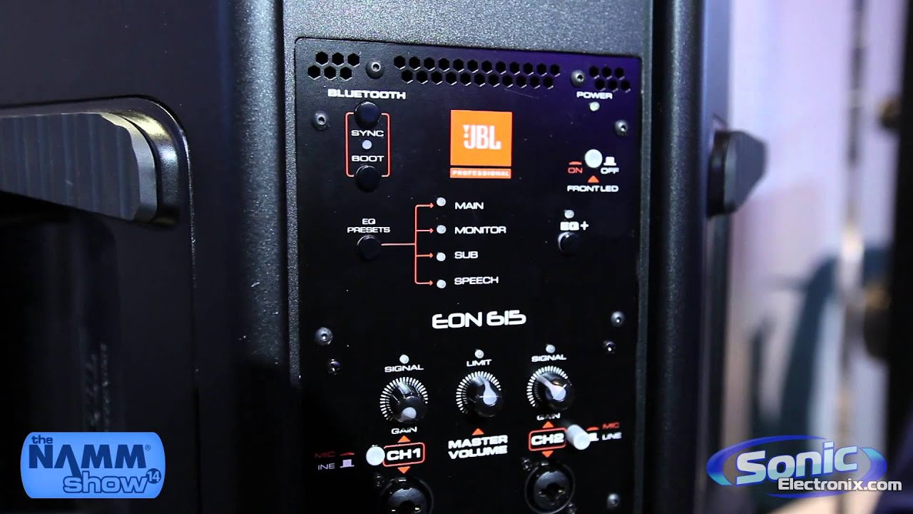 Jbl Eon 615 Portable Speaker Namm 2014 Sonic 4 Ohm Sub Wiring Diagram Electronix