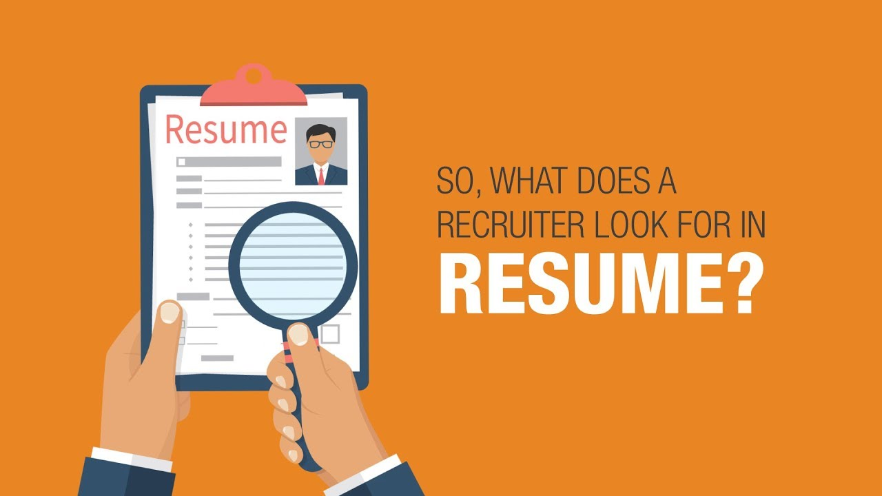 what do recruiters look for in a resume youtube
