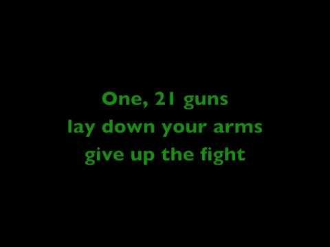 21 guns übersetzung
