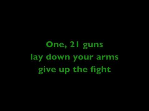 Green Day  21 guns with lyrics