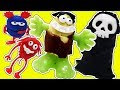 PLAY DOH HULK Smash Skeleton Monsters - MONSTER High De Plastilina de Playdough with Gertit